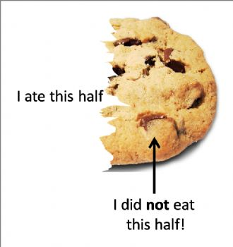 half a cookie