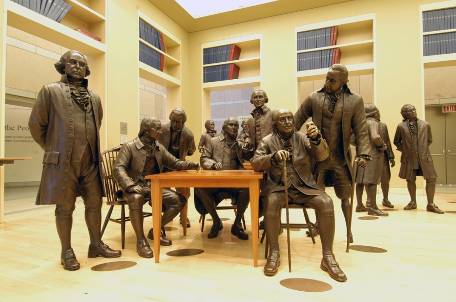 founding fathers in bronze