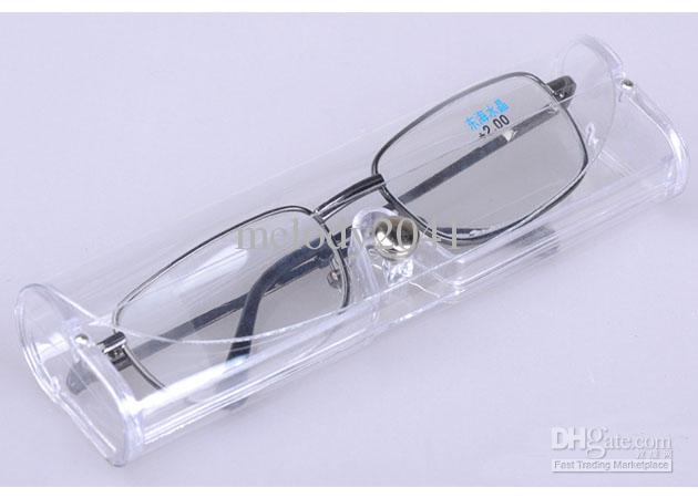 glasses in plastic case