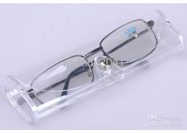glasses in plastic case