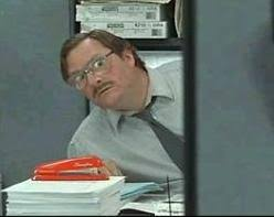 red stapler - office space
