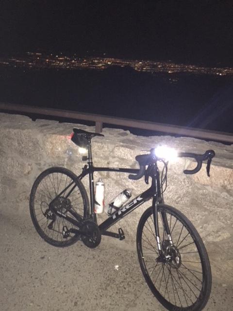 expensive bike with lights
