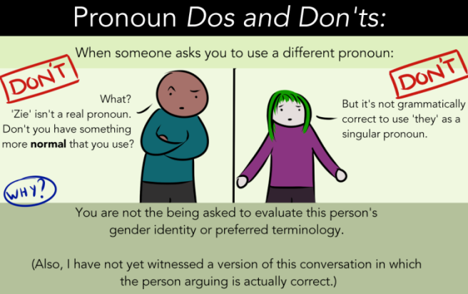 Don't steps for new pronoun
