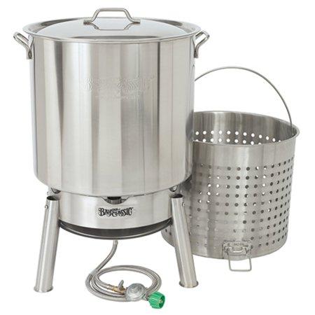 shrimp boil pot and strainer