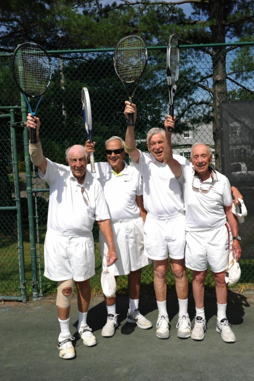 95-year-old tennis players