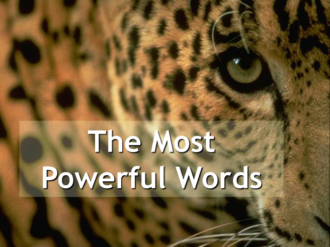 most powerful words