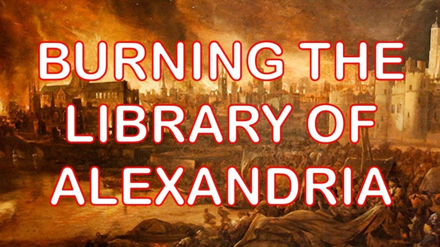 library burning