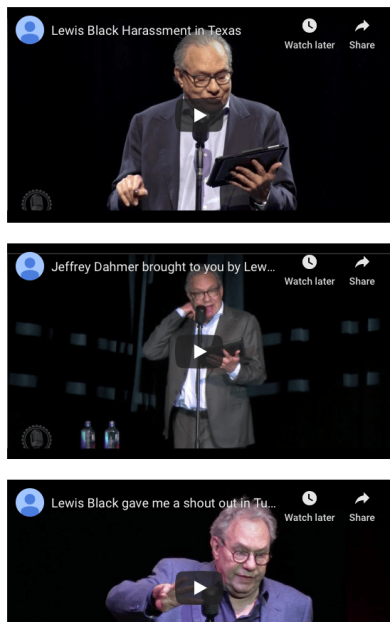 Video list Lewis Black