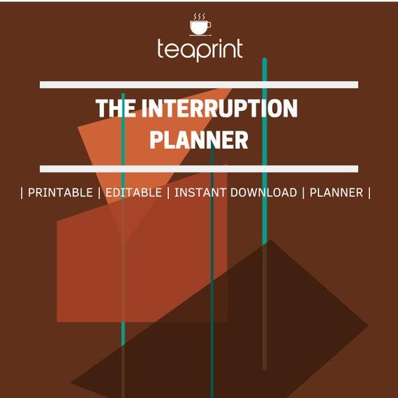 Interruption-planner