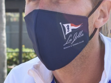 The updated mask from the La Jolla Beach and Tennis Club (LJBTC community).
