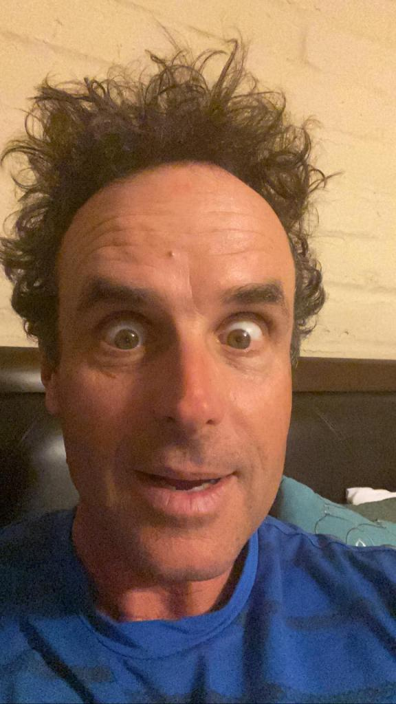 This is Kevin as an adult.  Doing his best impersonation of Larry Fine.
